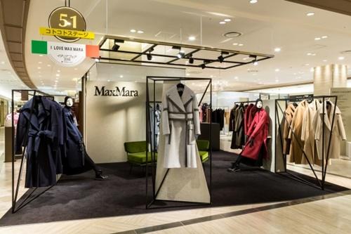 『マックスマーラ』のポップアップショップが阪急うめだ本店館内3箇所に同時オープン