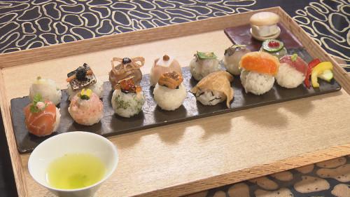 手毬鮨と日本茶 宗田