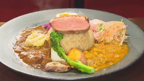 『鴨と野菜のあいがけカレー』(スパイス料理イデマツ)